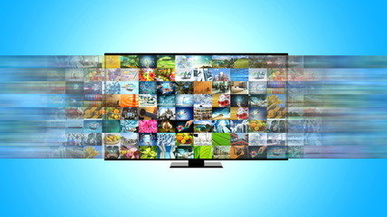 Smart TV and Internet broadband streaming entertainment