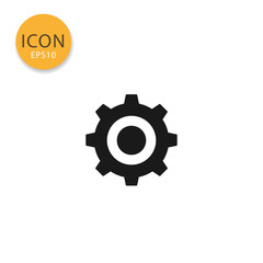 Cogwheel or gear icon isolated flat style.