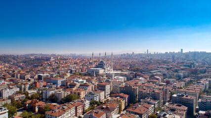 Aerial view of Ankara in Turkey
