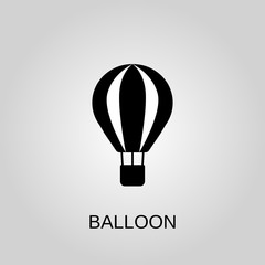 Balloon icon. Balloon symbol. Flat design. Stock - Vector illustration.