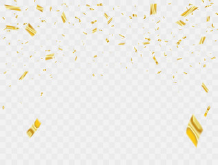 Celebration background template with confetti Colorful ribbons. luxury greeting rich card.