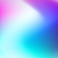 Blurred multicolored vector background. Smooth hues of white, turquoise, blue, purple gradient. Abstract neon zigzag pattern. Art bright template for modern creative design. EPS10 illustration