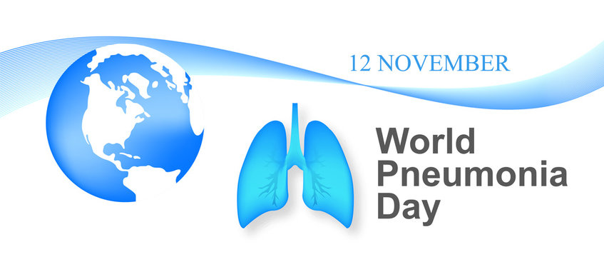 World pneumonia day vector illustration. healthcare and medical campaign.