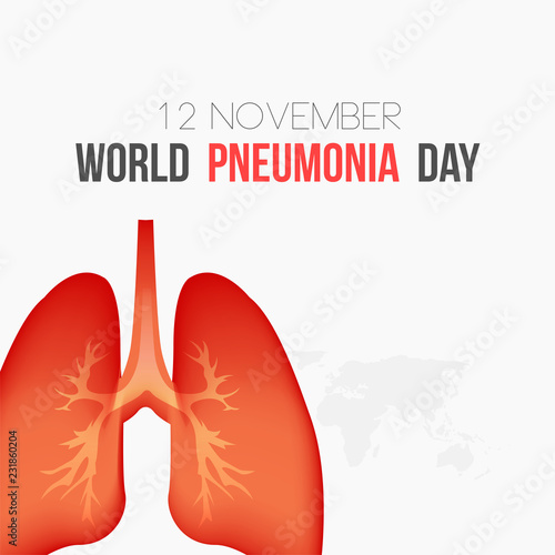 World pneumonia day vector illustration  healthcare and