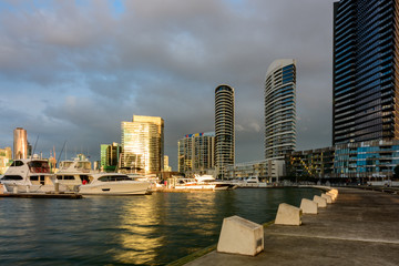 Sunset at Victoria Harbour, Docklands