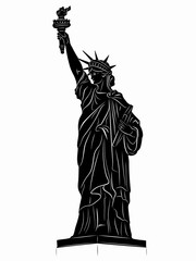 illustration of the Statue of Liberty , vector draw