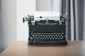 Retro style typewriter in studio
