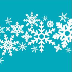 carte flocon de neige- vecteur