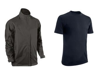 Black Tshirt and jacket