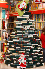 decorating from books in bookstore