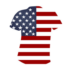 American T-shirt on a white background