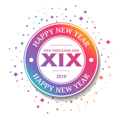2019 - Greeting Card - Happy New Year