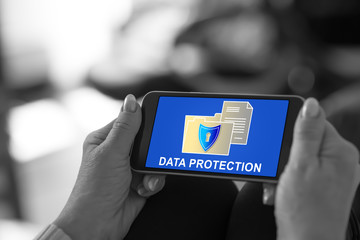 Data protection concept on a smartphone