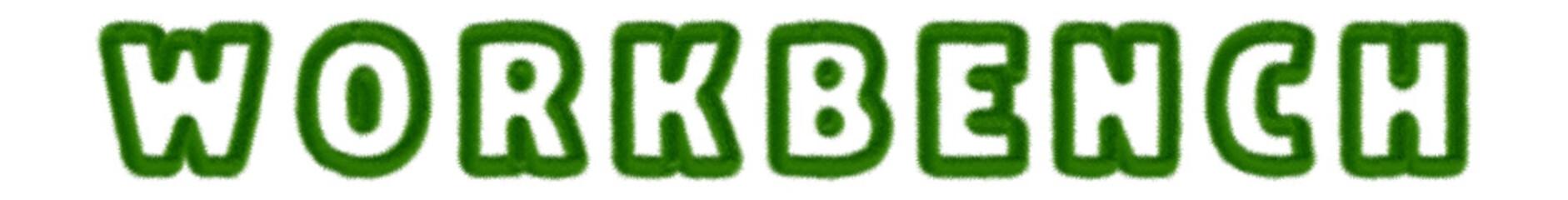 Workbench - text written with grass