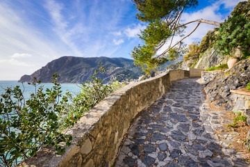 Hiking trail in Cinque Terre, Italy