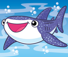 shark whale cartoon, cartoon cute, animal cute