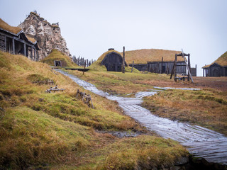 Ancient viking village in Hofn, Iceland