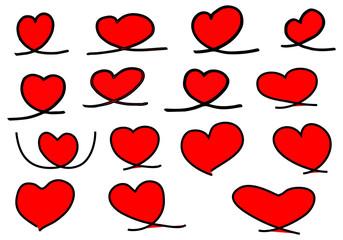 vintage doodle heart,love, vector