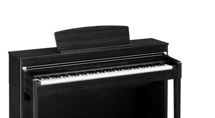 Real black grand piano