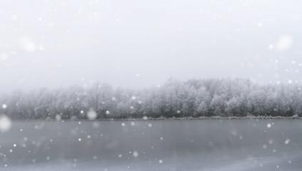 gefrorene see im winter