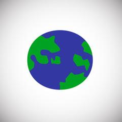 Globe color flat icon on white background