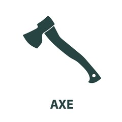 Axe icon isolated on white background. Vector illustration.