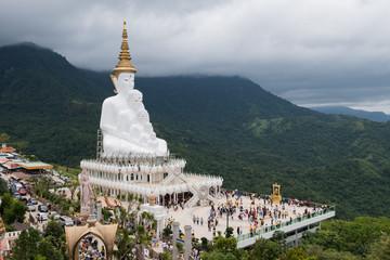 Phetchabun, Thailand-July 28,2018, Wat Phra That Pha Son Kaew, Phetchabun, Thailand.