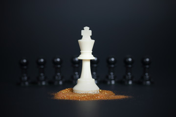 Chess king leadership concept