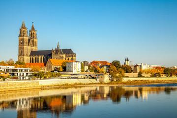 Magdeburg, Magdeburger Dom an der Elbe