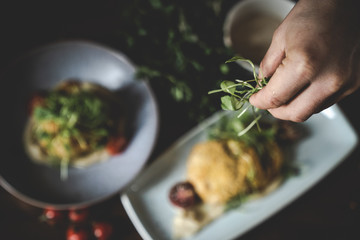 Arancini italienische Reiskugeln fritiert Food Porn Essen