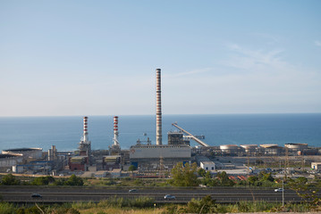 Termini Imerese, Italy - September 09, 2018 : view of Centrale Enel Ettore Majorana in Termini Imerese