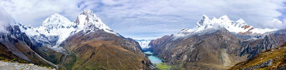 Landscape of Santa Cruz Trek, Cordillera Blanca, Peru Wall mural