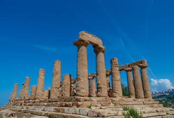 Ancient greek Temple of Juno in Agrigento, Sicily. Italy