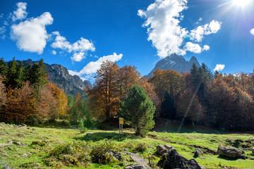 mountain of Pic Du Midi Ossau  in autumn, France, Pyrenees