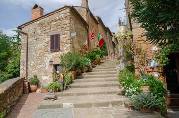 Tuscany village steps
