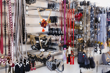 Image of colored  necklaces and bracelets