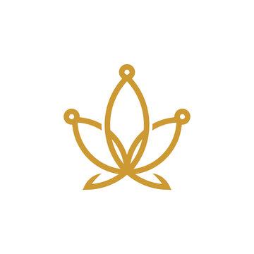 King Cannabis logo design inspiration, Cannabis crown logo design inspiration
