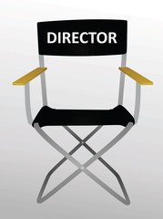 Director's  chair. vector illustration