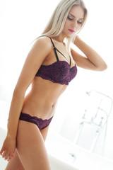 Woman in lingerie