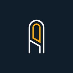 a letter vector logo. aa letter vector logo