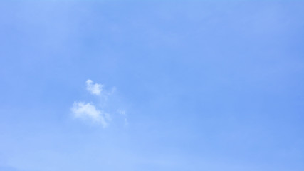 blue sky with cloud in summer - background