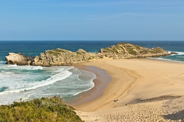 The Robberg nature reserve in Plettenberg bay, South Africa. This is a popular hiking area.