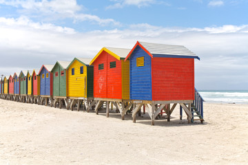 Beach huts in Cape Town, South Africa