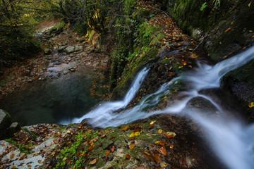 Erfelek waterfalls, Sinop, Turkey in autumn season