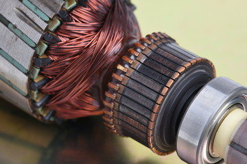 Electric rotor closeup