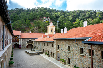 Kykkos monastery in Troodos mountains, Cyprus island