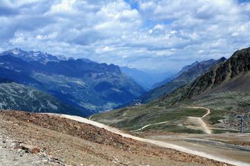 Gletscher und Berge rund um das Ötztal der Tiroler Alpen