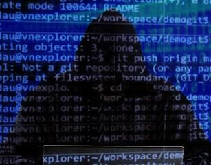 Cyber hacker attack security dark crime digital