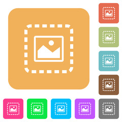 Place image rounded square flat icons