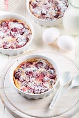 Cherry clafoutis - French milk cake
